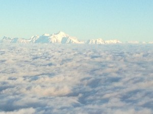 View on Mont Blanc  descending to Geneva airport