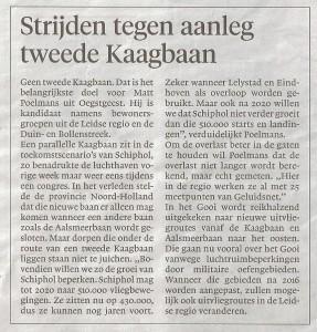 Leidscd Dagblad 15 november 2015