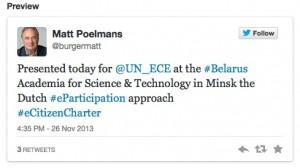 Tweet UNECE Minsk
