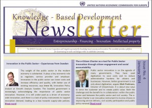 Frontpage UNECE Newsletter January 2014